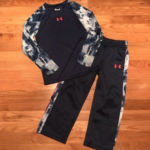 Boys Size 6 UA Long Sleeve Shirt & Size 5 UA Pants